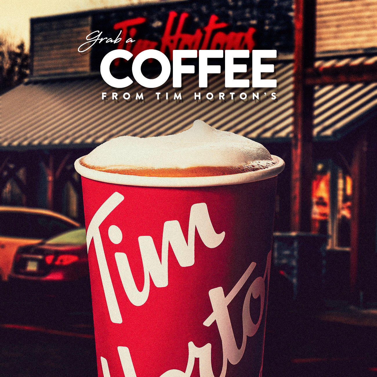 Grab a coffee from Tim Horton's while you are here